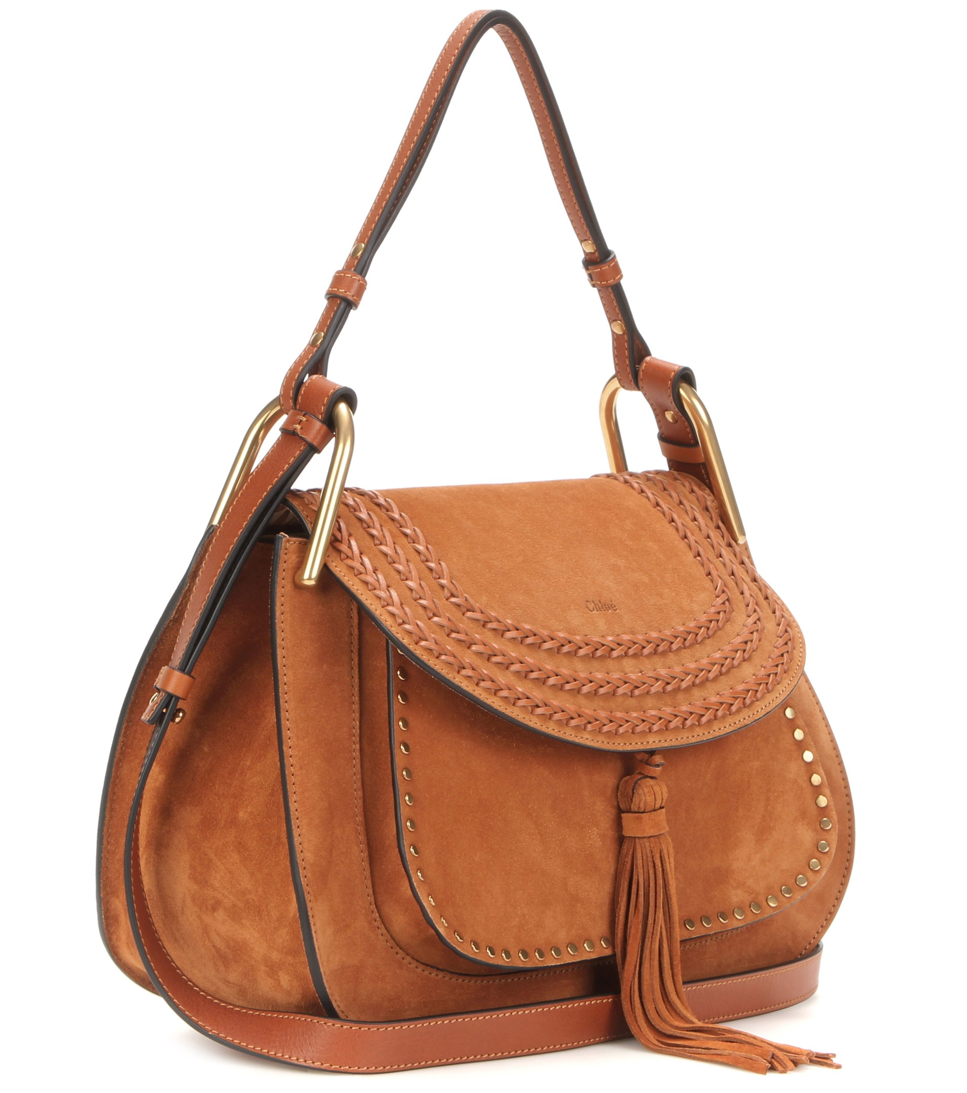 064091481f801 Chloé Hudson Small Suede Shoulder Bag in Brown - Lyst