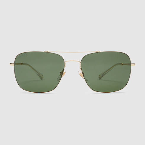Square Gold Frame Sunglasses : Gucci Steel And Metal Square-frame Sunglasses in Gold for ...