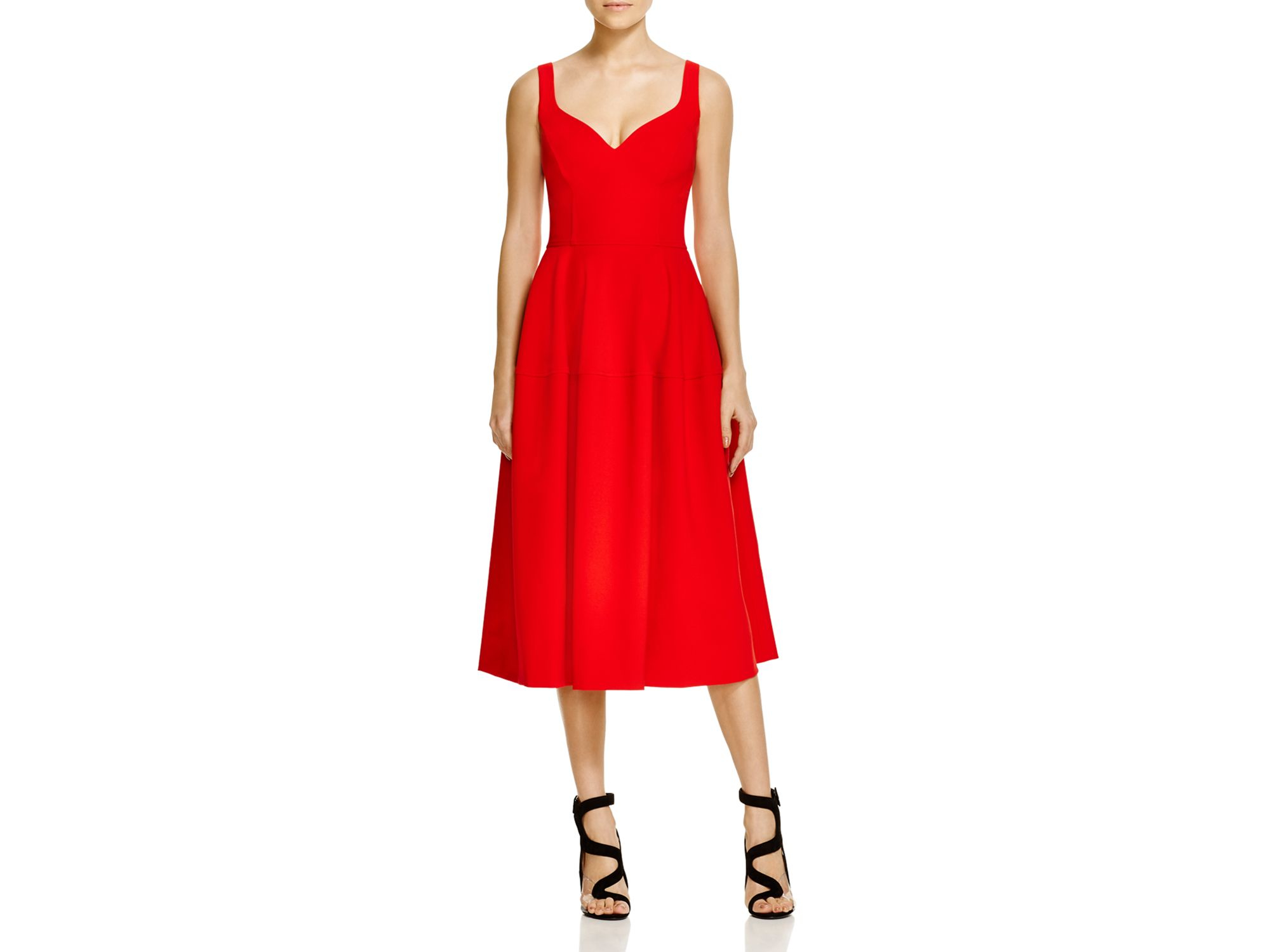 Jill Jill Stuart Sweetheart A Line Cocktail Dress In Red