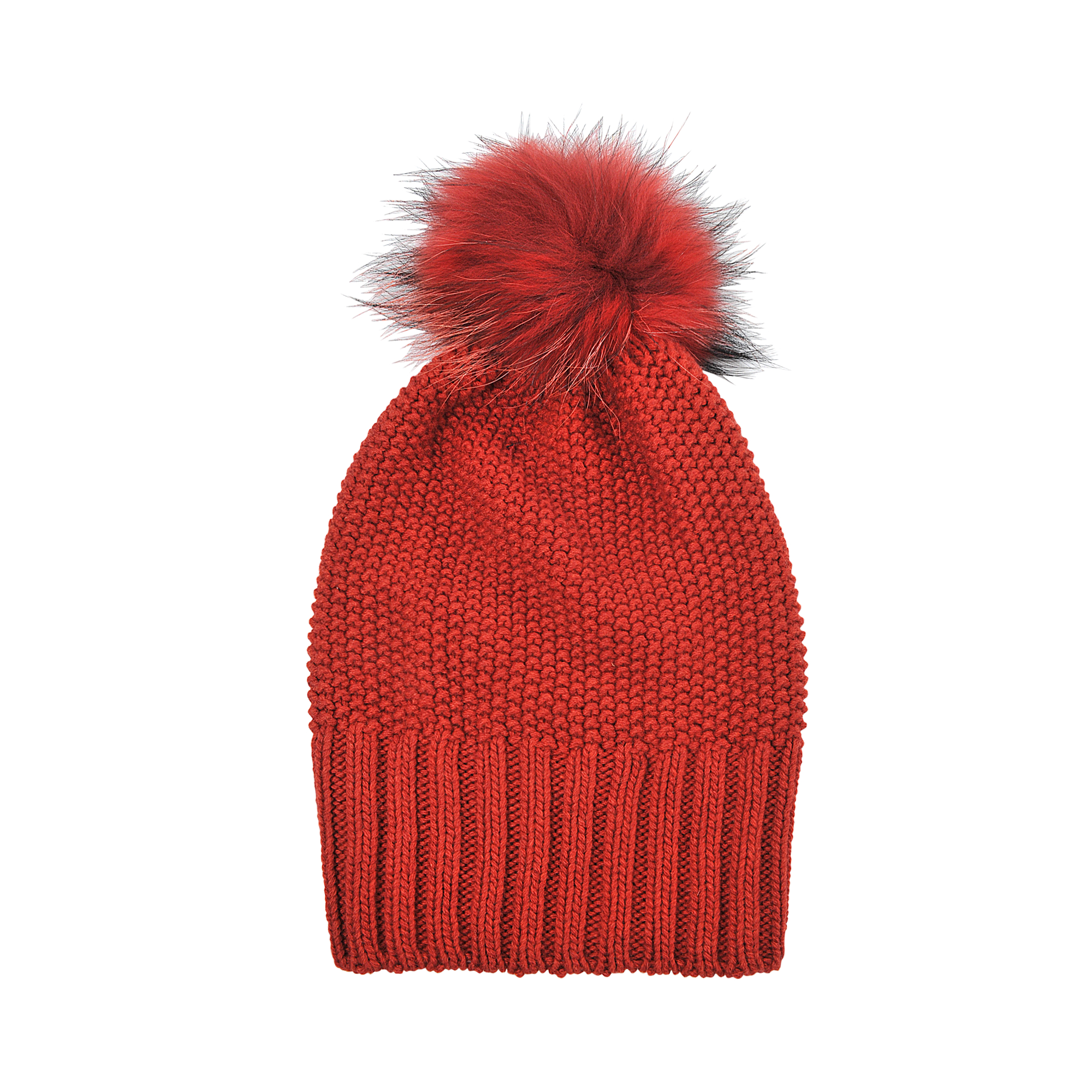 Inverni Knit Cashmere Long Beanie in Red Lyst