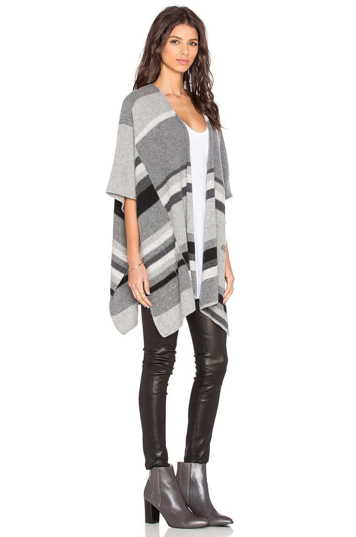Lyst Splendid Mismatch Stripe Wrap In Gray