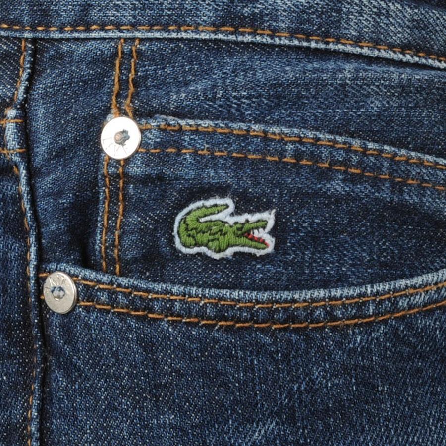 b9a8b0e23e32 Lyst - Lacoste L!Ive Slim Fit Jeans Medium Wash in Blue for Men