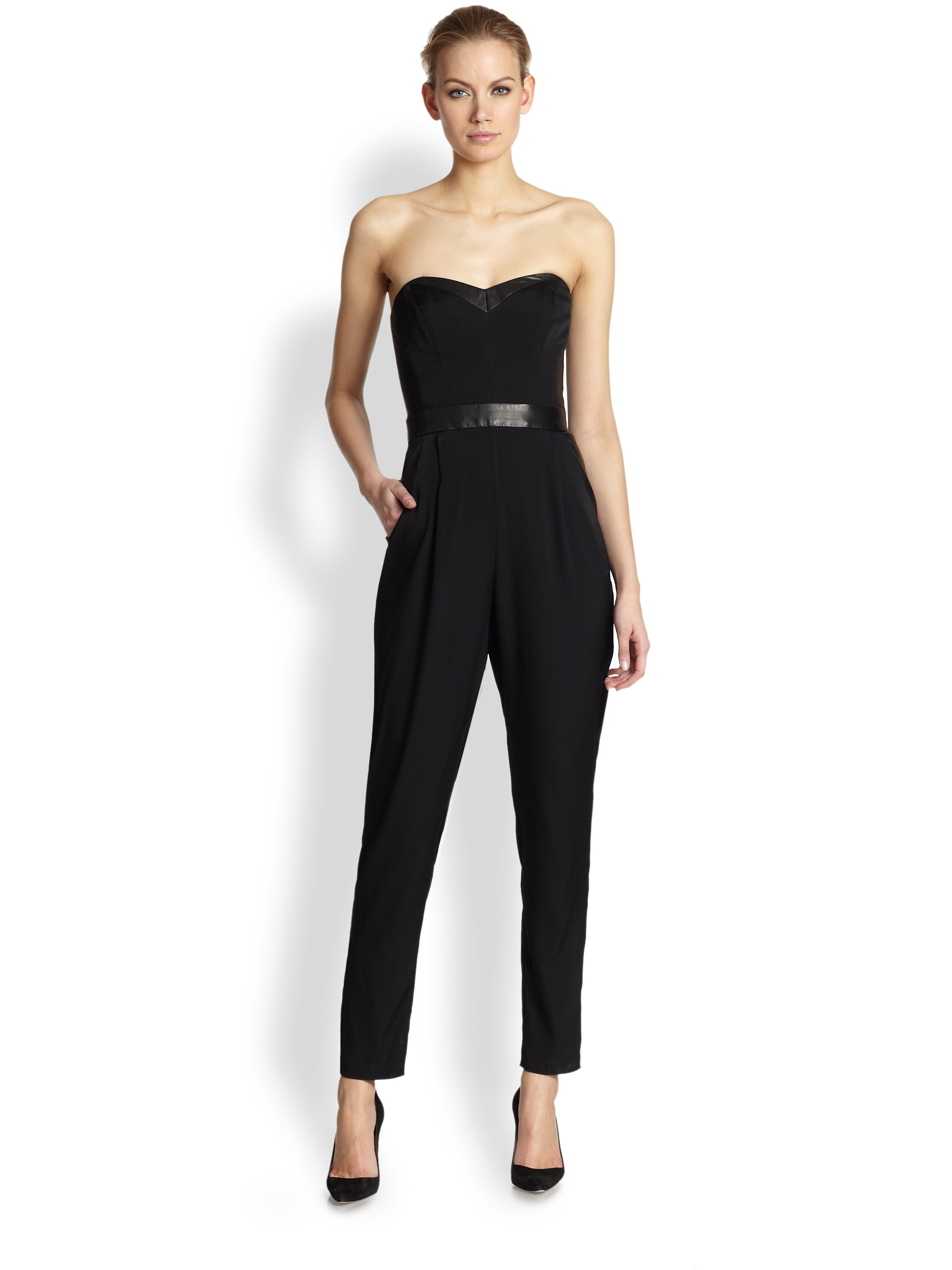 Blanc Free, fast shipping on Strapless Choker Velvet Black Jumpsuit at Dolls Kill, an online boutique for punk and rock fashion. Shop graphic tees, bodysuits, & dresses. Midnight Last Danze Velvet Jumpsuit cuz you only save the best for last. This black velvet jumpsuit has a plunging neckline and matching choker.