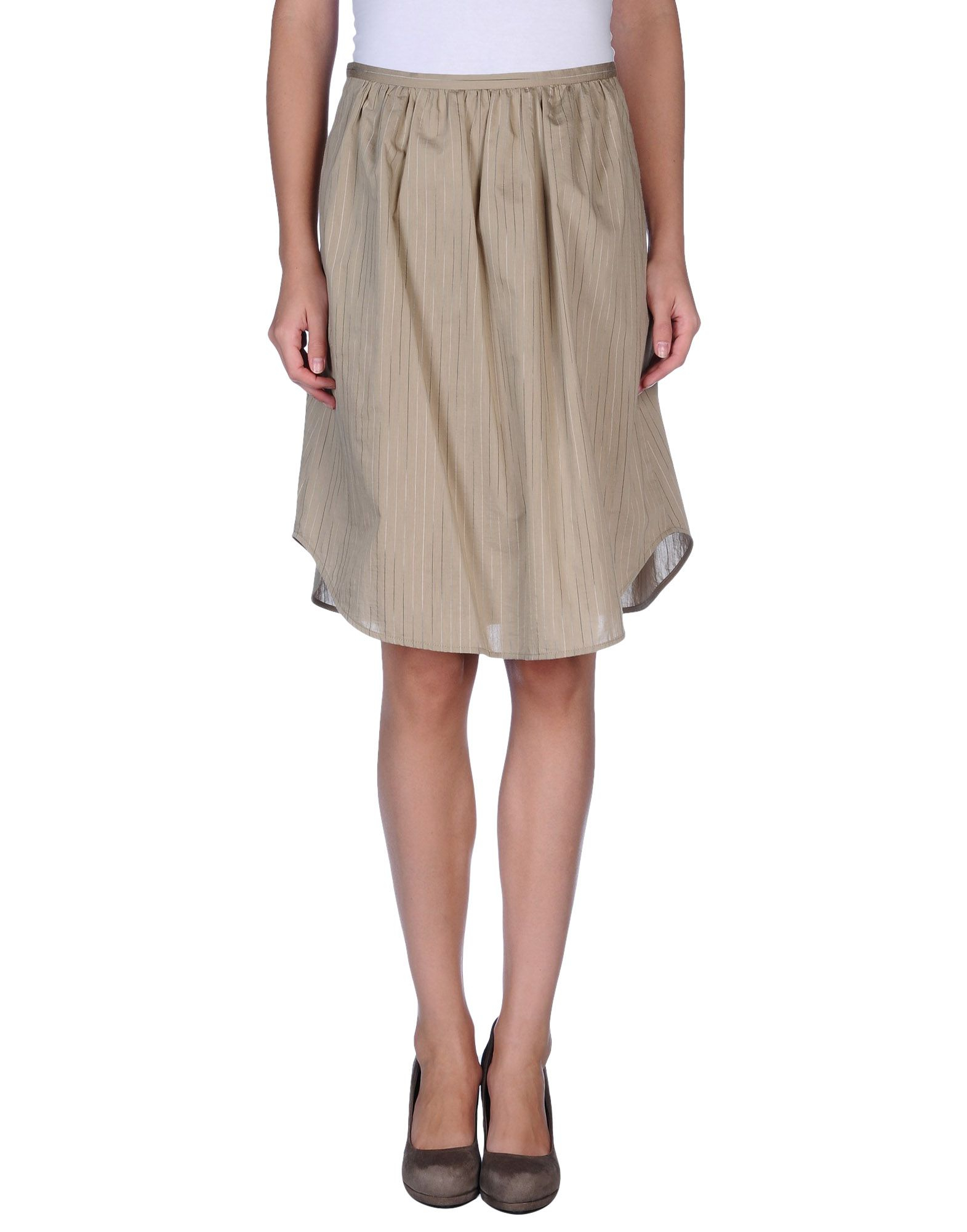 hache knee length skirt in khaki lyst