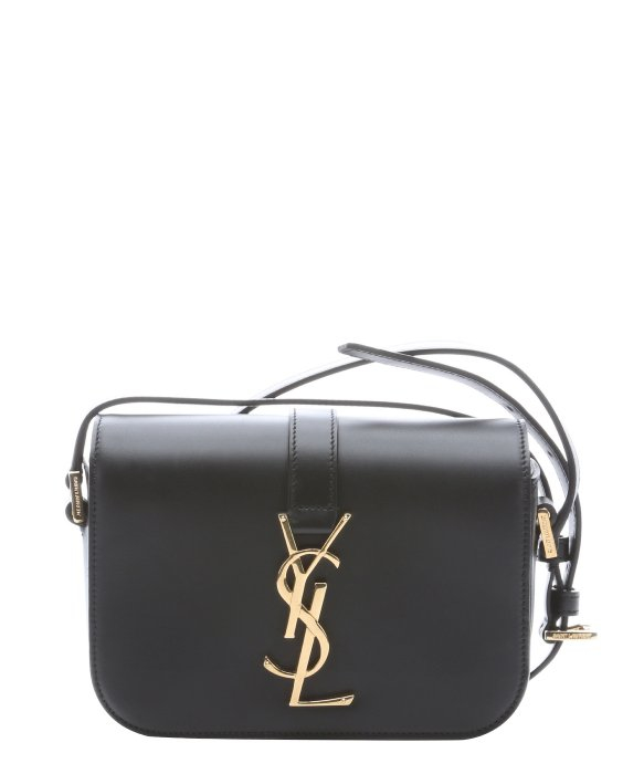 Saint laurent Black Leather \u0026#39;Ysl\u0026#39; Logo Mini Crossbody Bag in Black ...