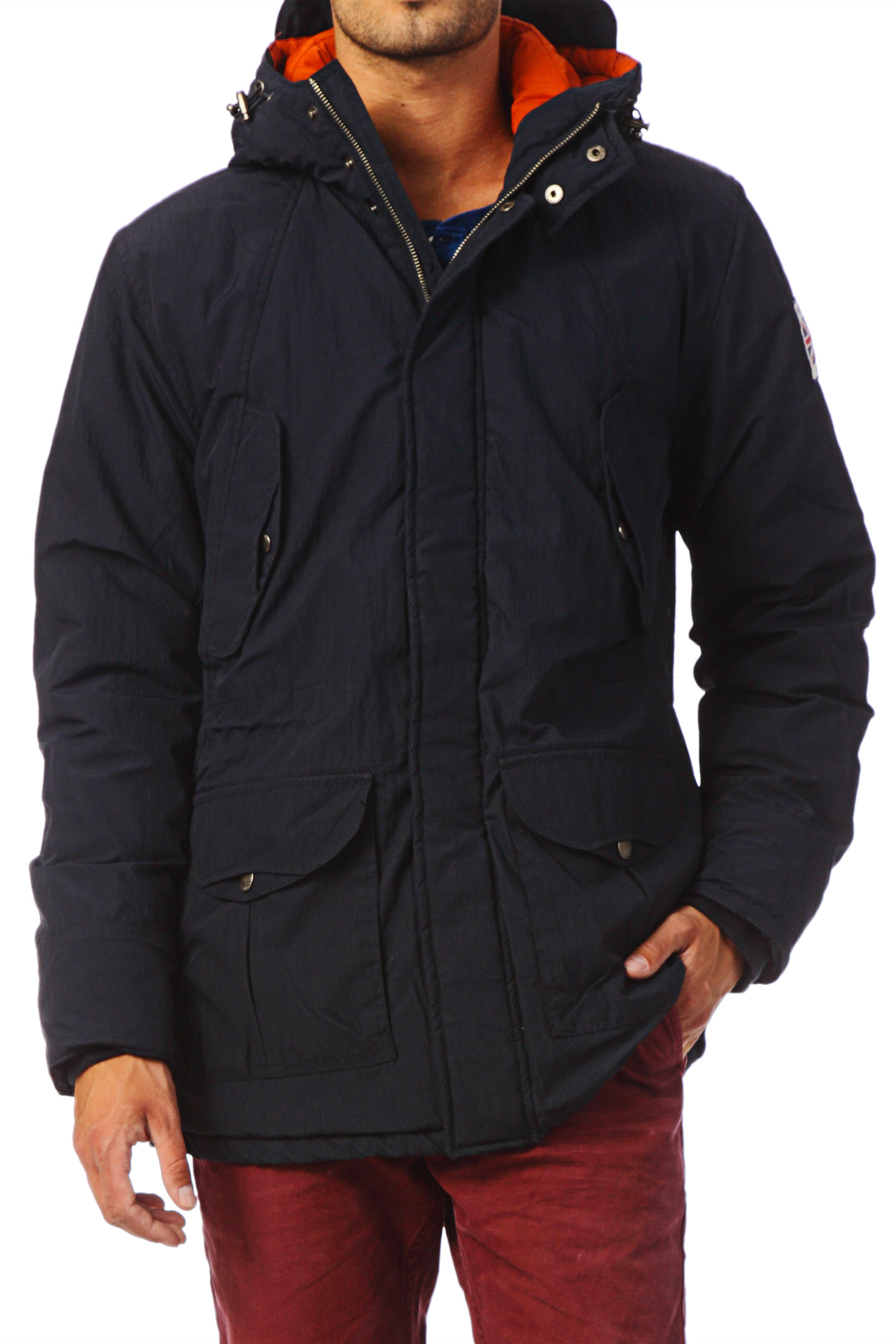 pepe jeans parka in blue for men lyst