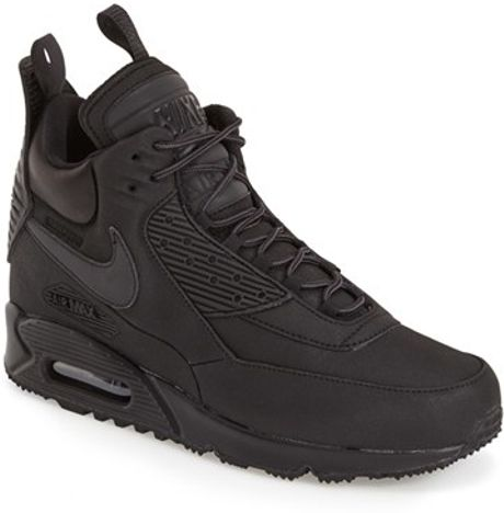 nike air max 90 winter sneaker boots in black for