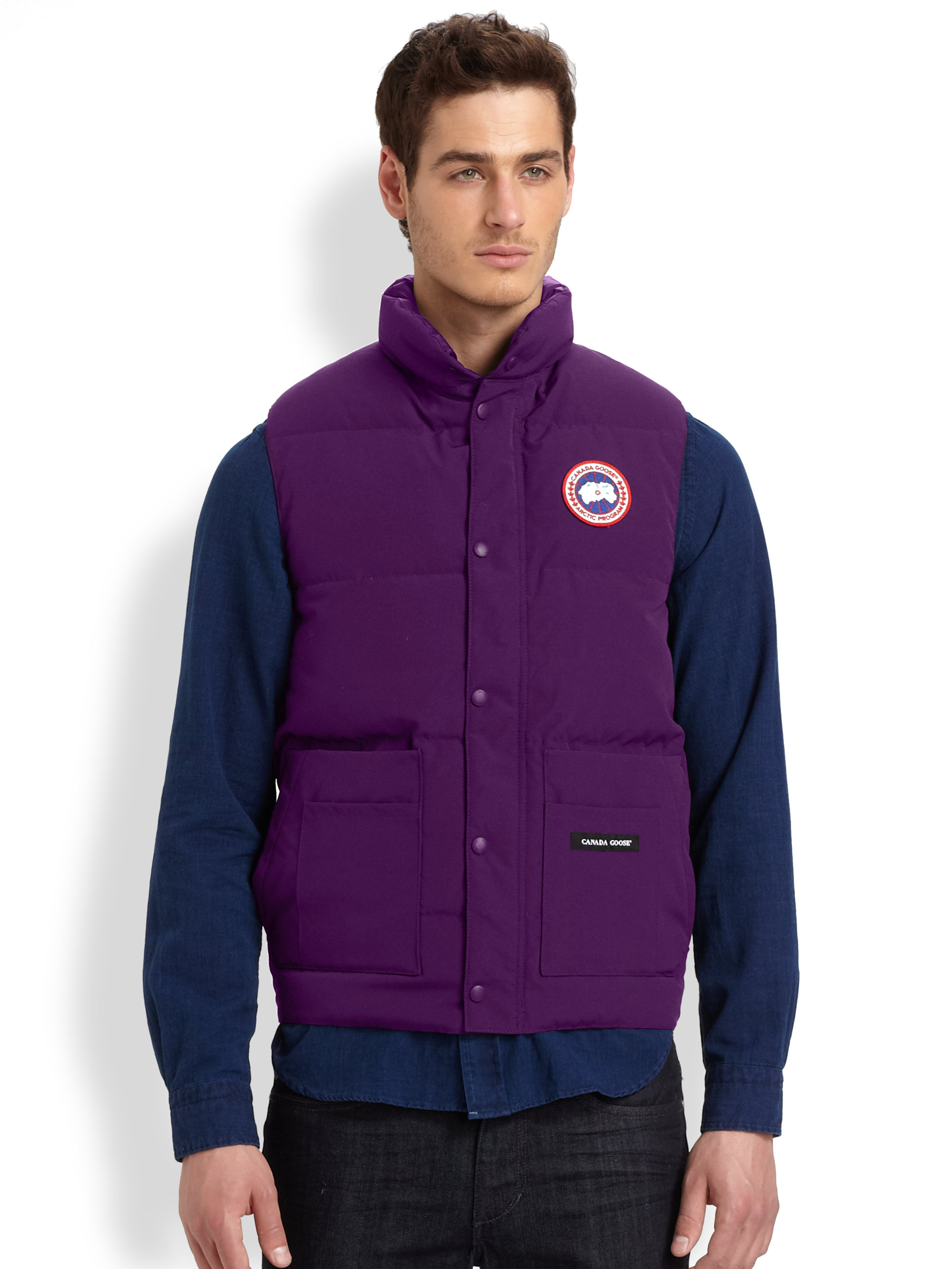 Canada Goose coats outlet 2016 - Canada goose Freestyle Puffer Vest in Purple for Men (GRAPE) | Lyst