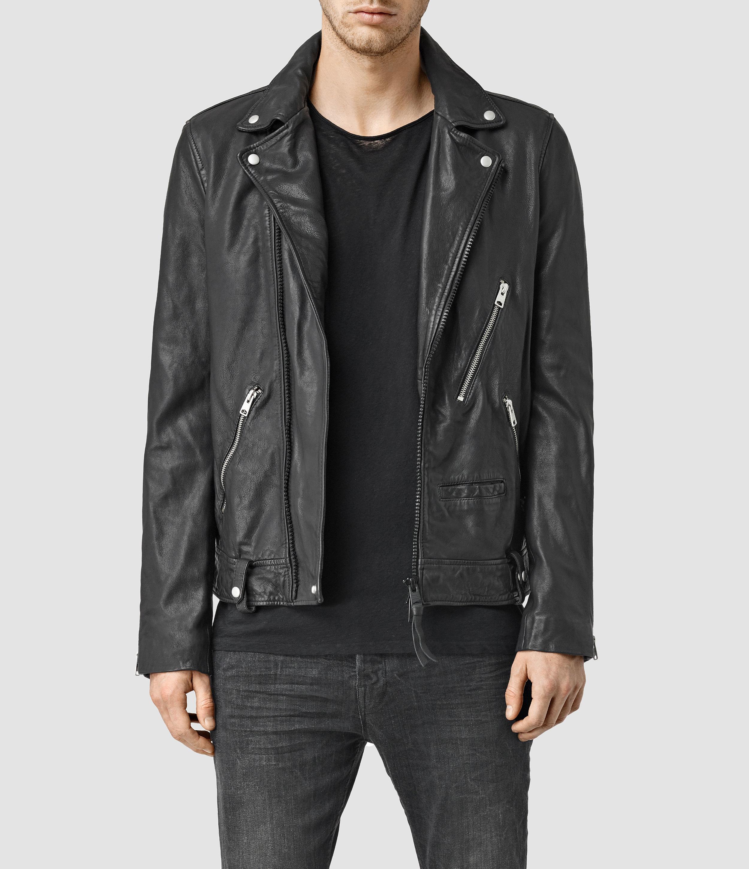 Lyst Allsaints Muir Leather Biker Jacket In Black For Men