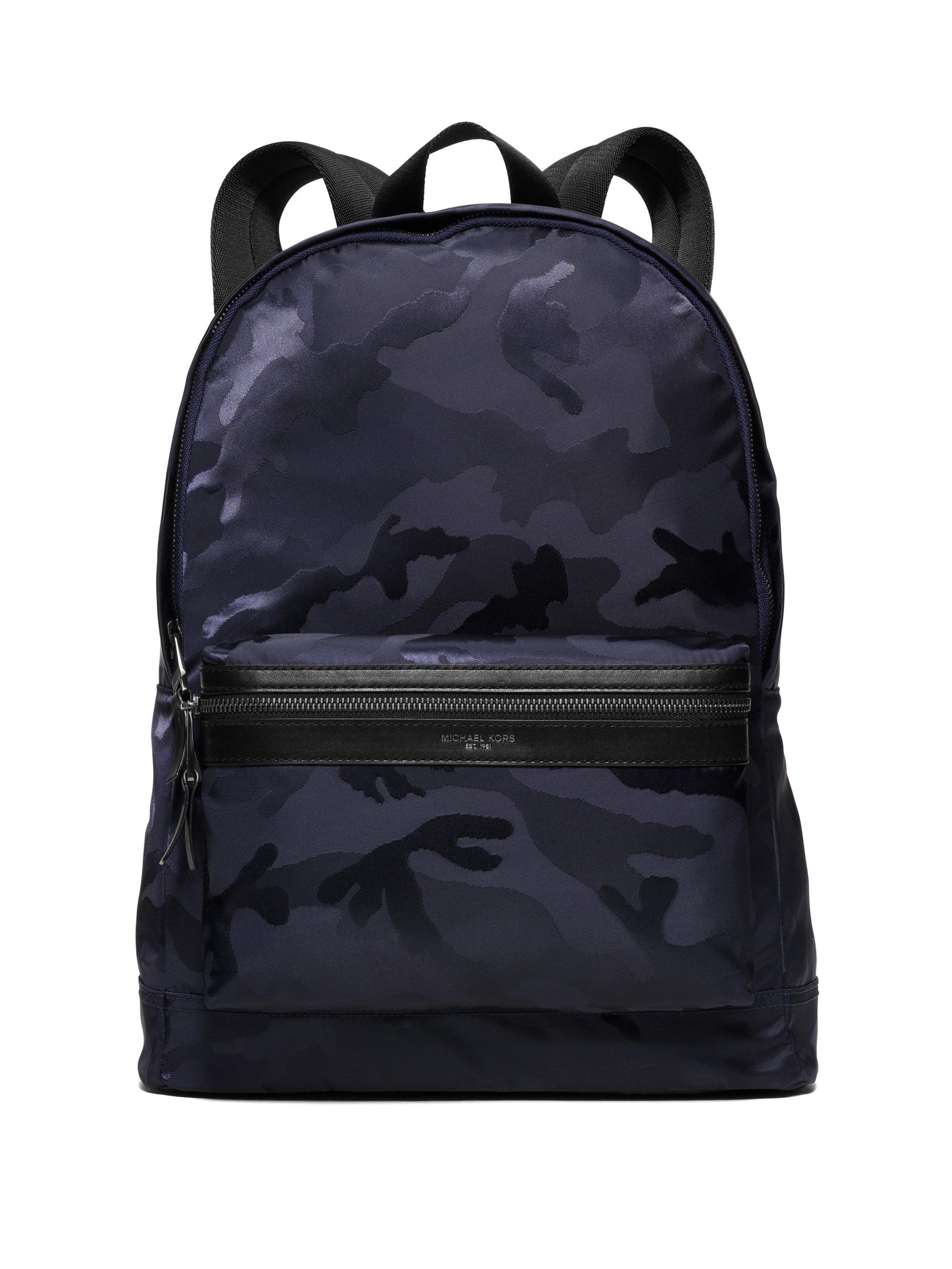 michael kors kent camouflage nylon jacquard backpack in black lyst. Black Bedroom Furniture Sets. Home Design Ideas
