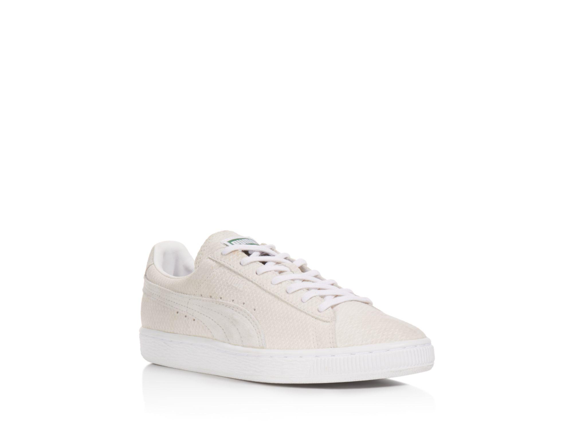 puma suede blanche et beige