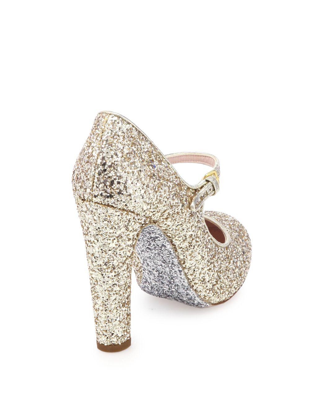 984a88bae17 Miu Miu Metallic Glitter Mary Jane Pumps