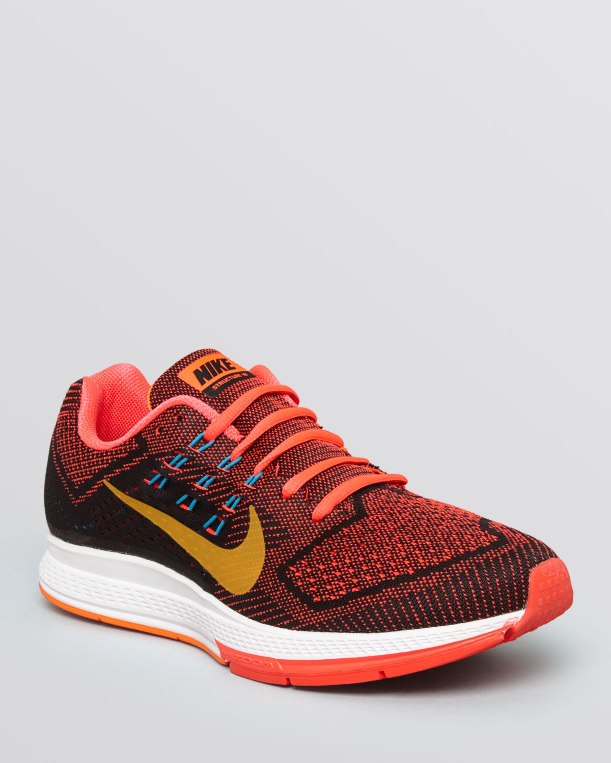 nike air zoom structure 18 sneakers in red for men lyst. Black Bedroom Furniture Sets. Home Design Ideas