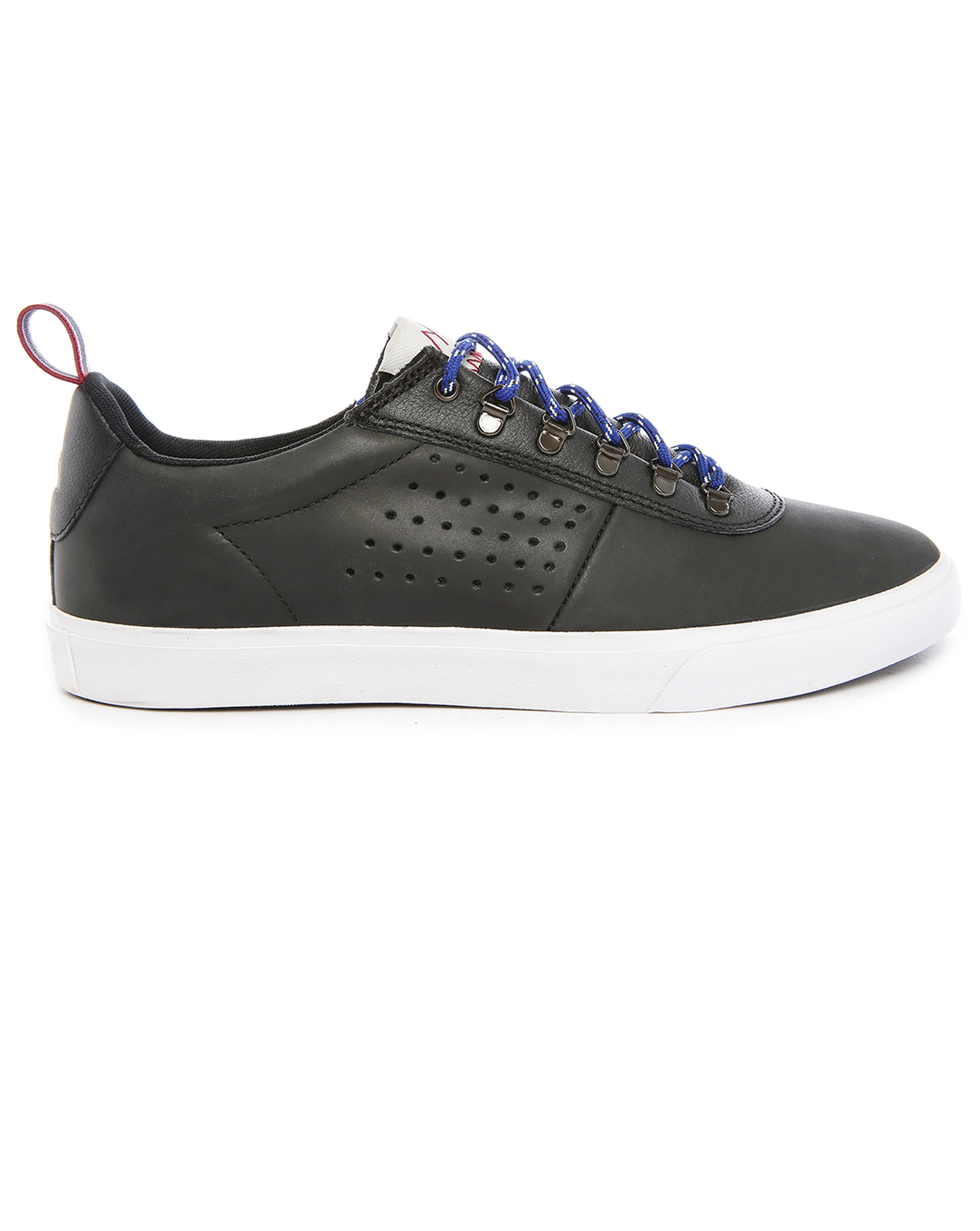le coq sportif mont butchau black leather sneakers in