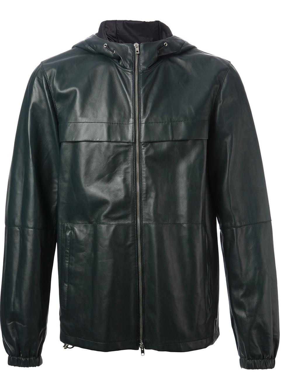 Lyst Joseph Hooded Wellington Jacket In Green For Men