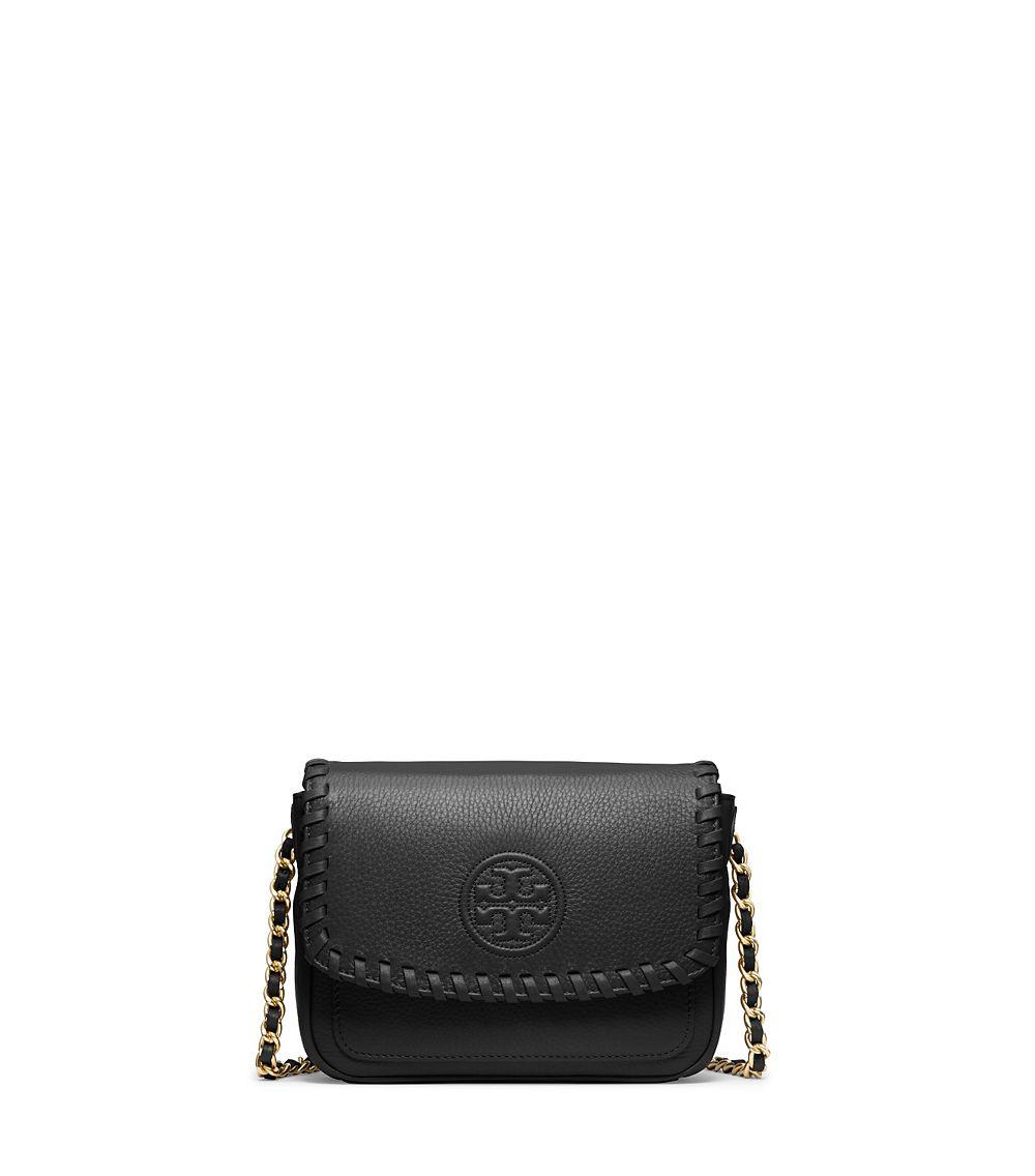 2b56e67ea58 Lyst - Tory Burch Marion Mini Bag in Black