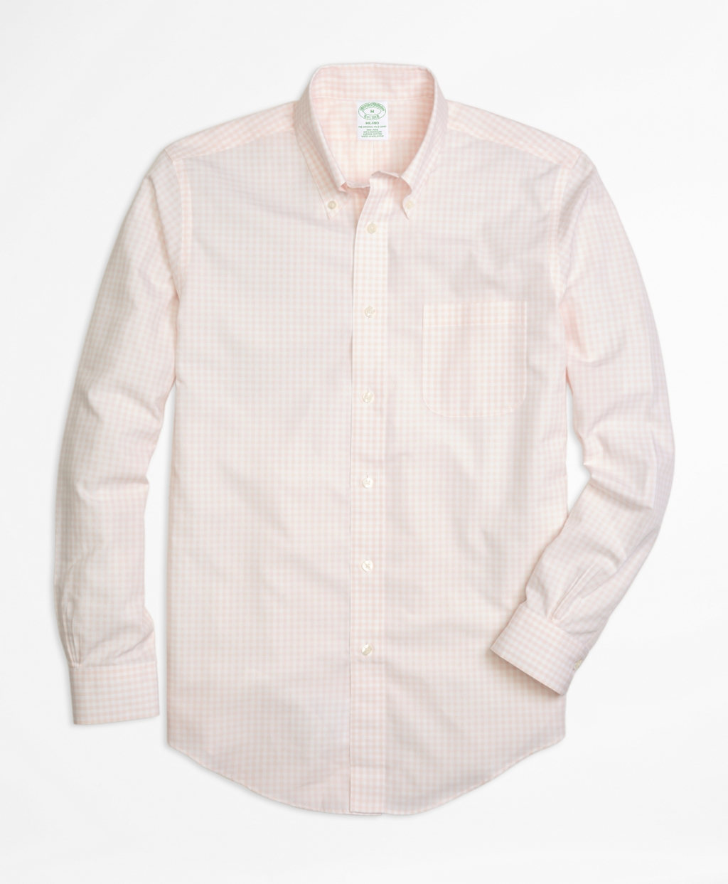 Brooks Brothers Non Iron Milano Fit Gingham Sport Shirt In