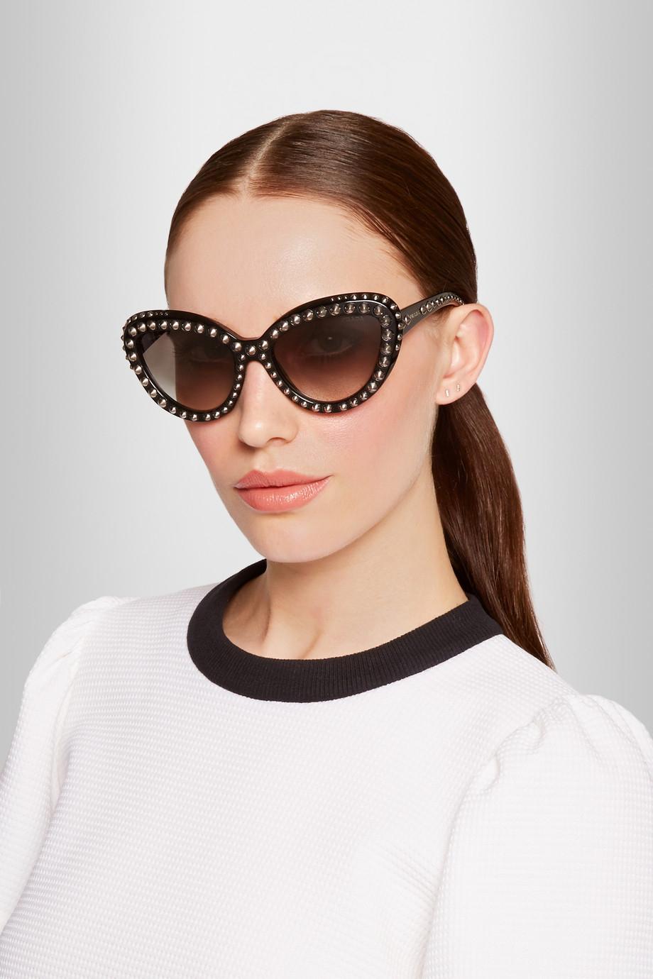 d800184ff9c Prada Cat Eye Studded Sunglasses - Bitterroot Public Library