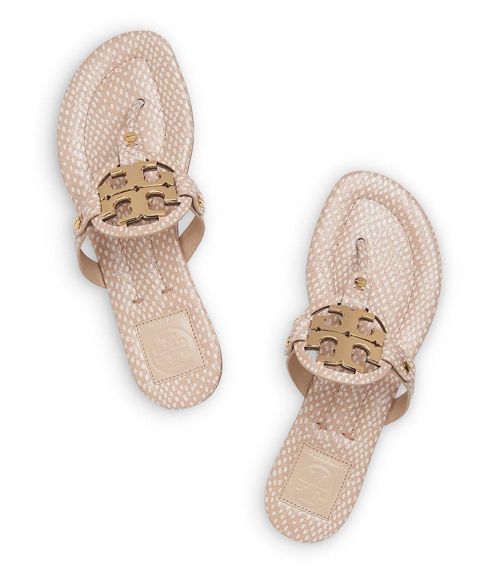 e26efa2ac4093 ... Tory Burch Miller 2 Polka Dot Sandal in Natural - Lyst get cheap 5445c  f8793  Tory Burch Miller Snake-Print ...