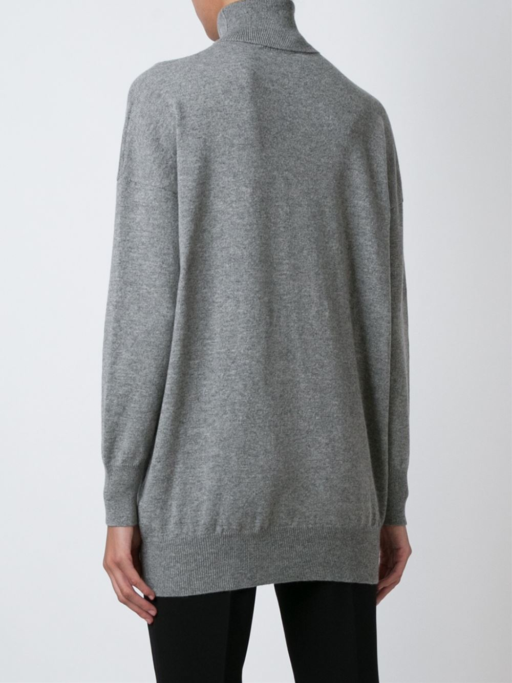 Gucci Cashmere Sweater in Gray | Lyst