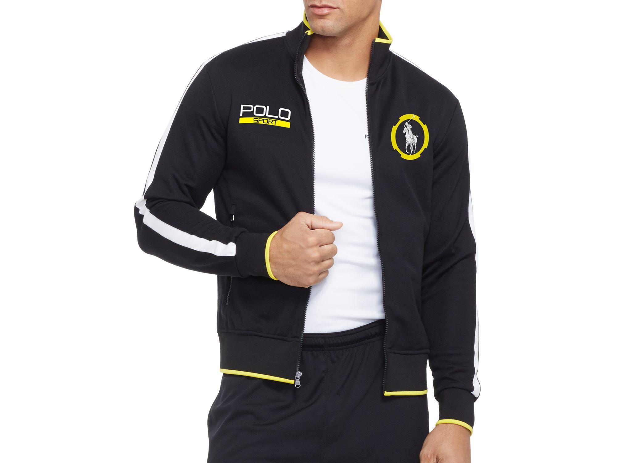 Ralph Lauren Black Polo Sport Cotton-blend Piqué Track Jacket for men