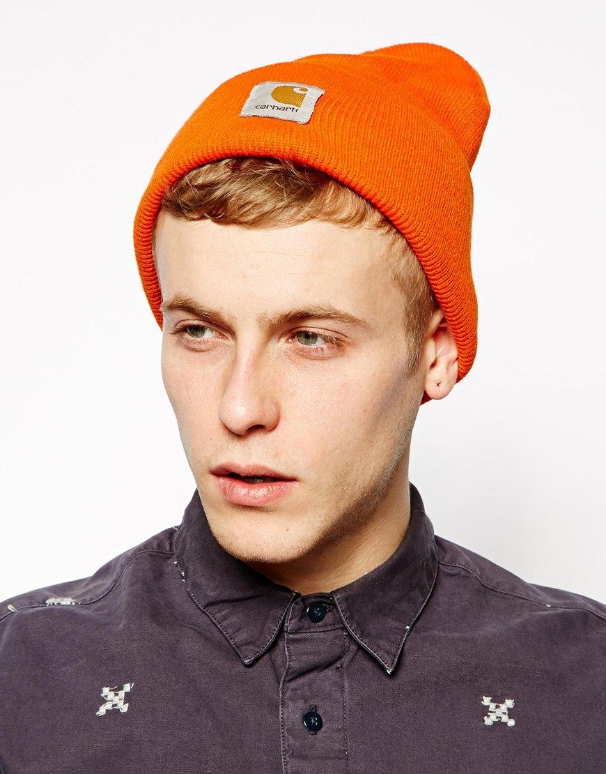 Lyst - Carhartt Acrylic Watch Beanie Hat in Orange for Men 4e36e785a6f