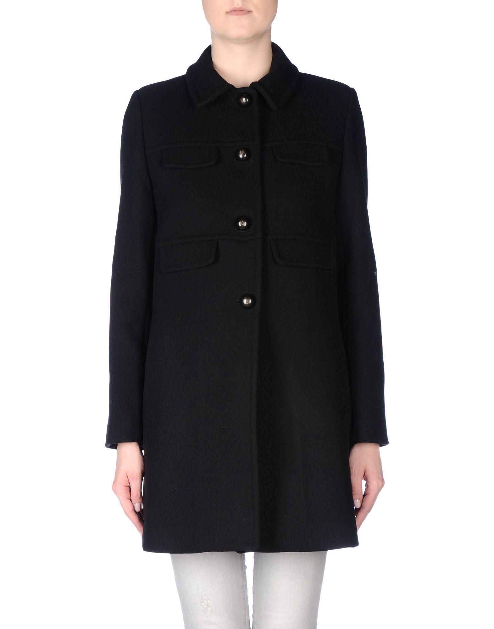 lyst paul joe coat in black. Black Bedroom Furniture Sets. Home Design Ideas