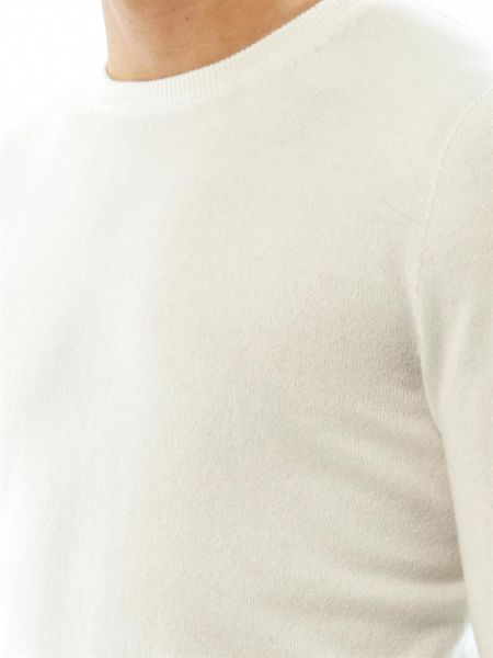 Mens White Cashmere Sweater Cashmere Sweater in White
