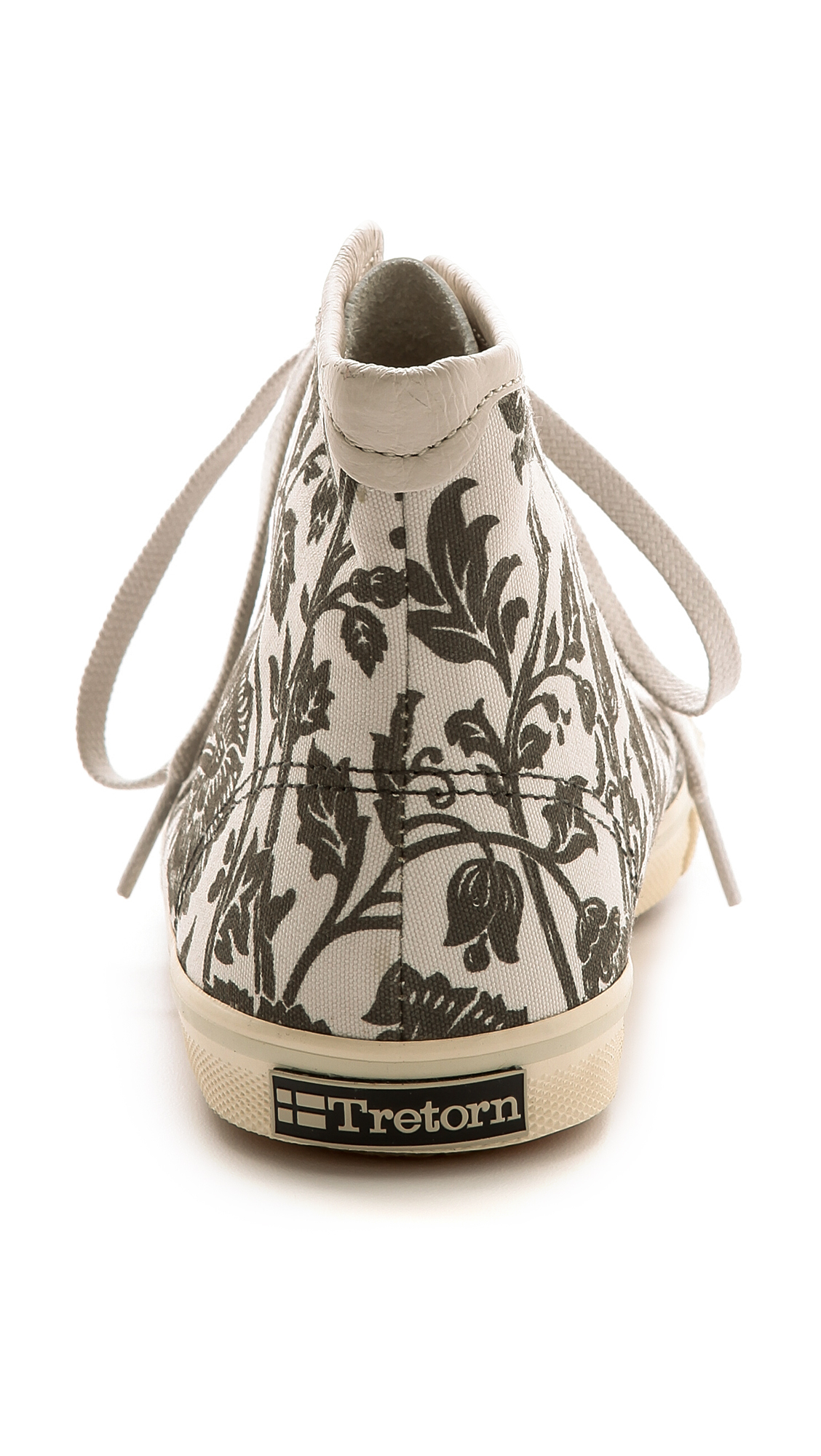 Tretorn Seksti William Morris High Top Sneakers Moonbeam