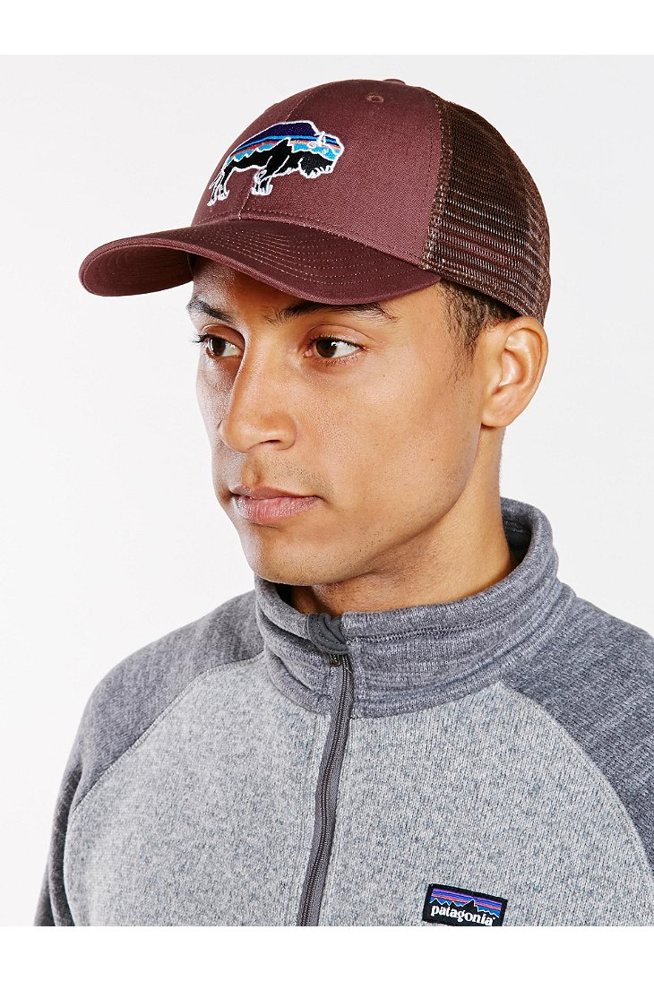 35c0b47f2703e Patagonia Fitz Roy Bison Low Profile Trucker Hat in Brown for Men - Lyst