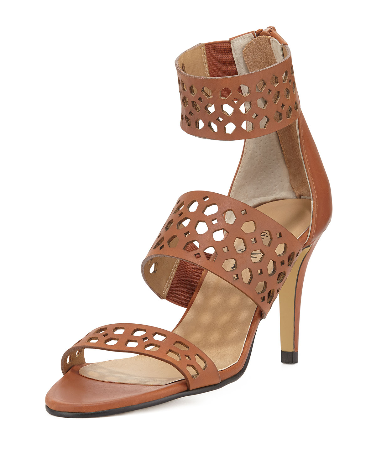 Lyst - Neiman Marcus Elicia Banded High-heel Sandal in Black