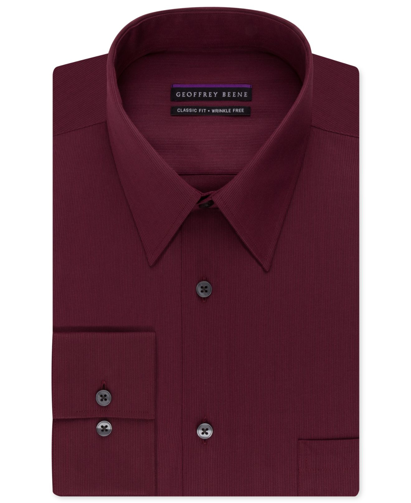 Geoffrey beene Non-iron Bedford Cord Solid Dress Shirt in ...