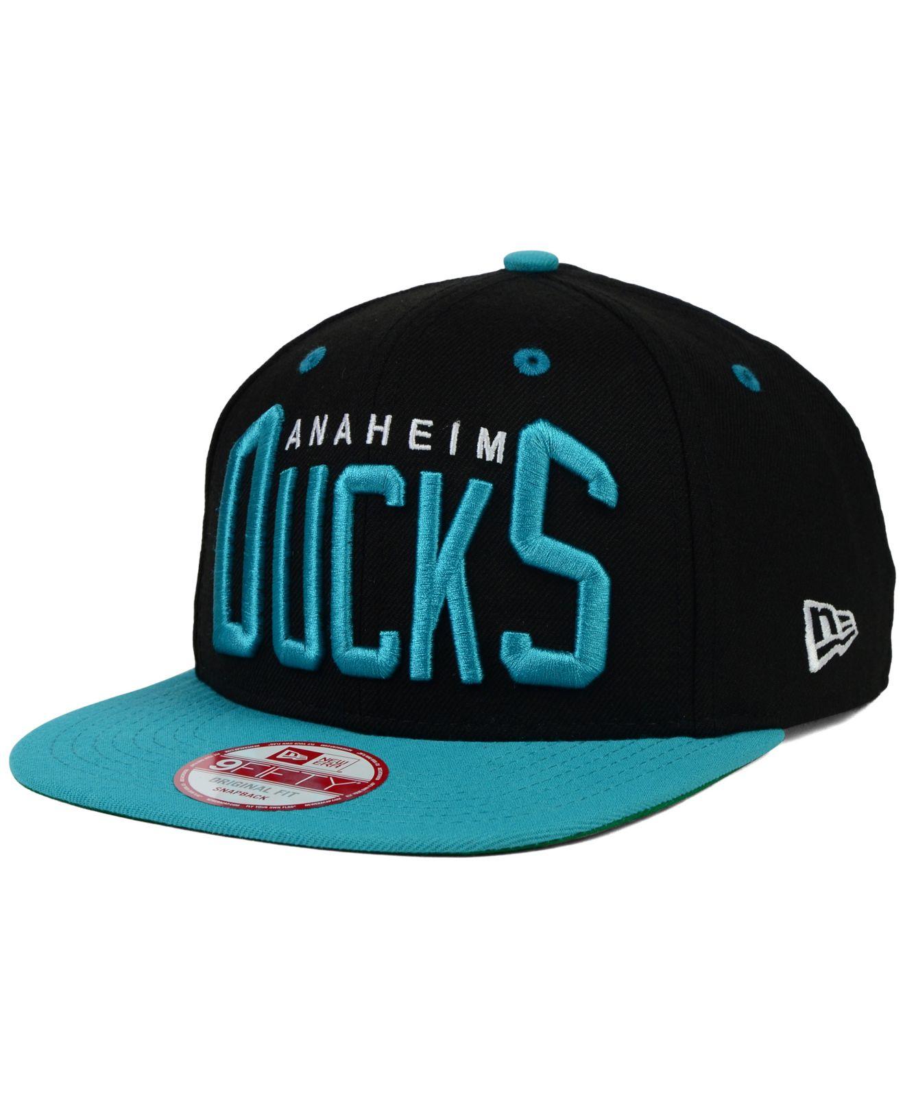 wholesale dealer 61941 b8dd2 ... top quality lyst ktz anaheim ducks vintage big word 9fifty snapback cap  in 9eb2b c2dd7