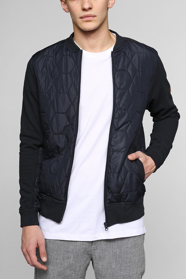 Lyst Urban Outfitters Unyforme Quilted Bomber Jacket In