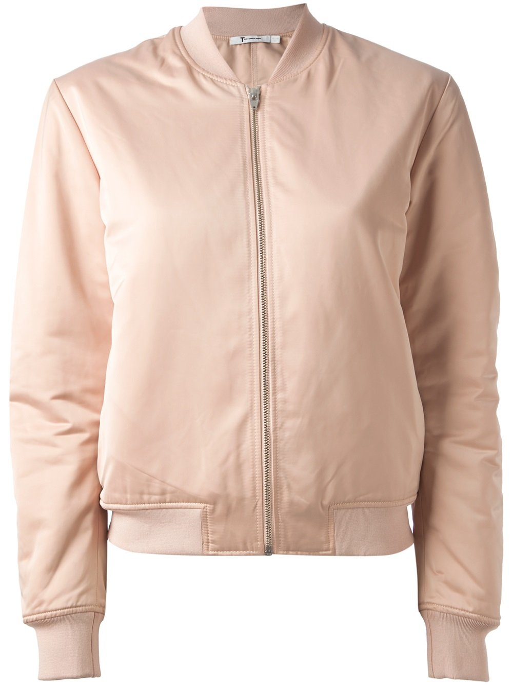80847abe6 T By Alexander Wang Pink Bomber Jacket