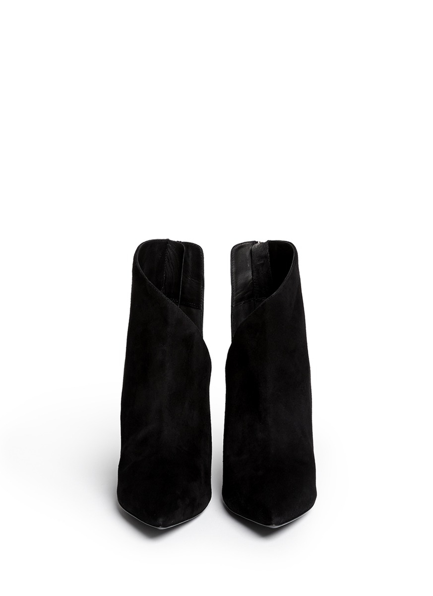 Giuseppe Zanotti 'lucrezia' Cutout Suede Ankle Boots in Black