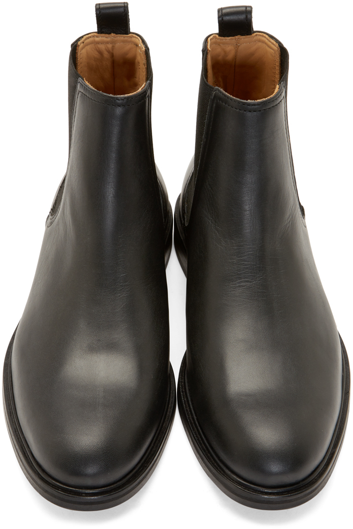 Carven Black Leather Chelsea Boots For Men Lyst