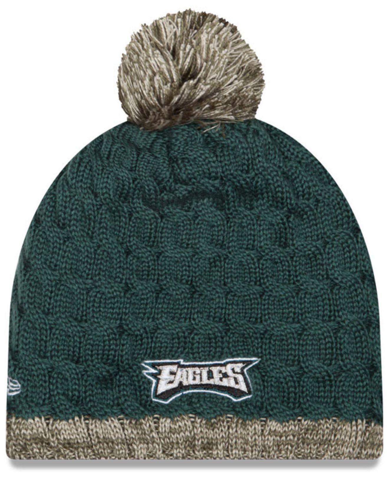 b94e5b7c9e3 Lyst - KTZ Women s Philadelphia Eagles Salute To Service Knit Hat ...