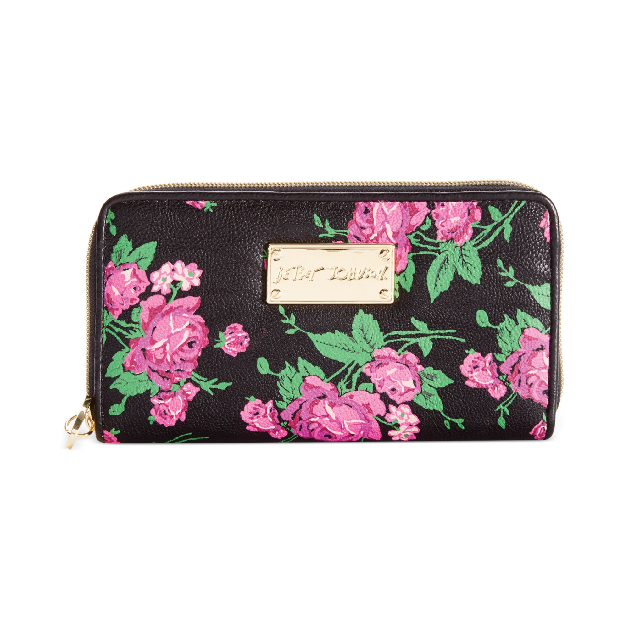 Betsey Johnson Zip Around Wallet In Purple Lyst