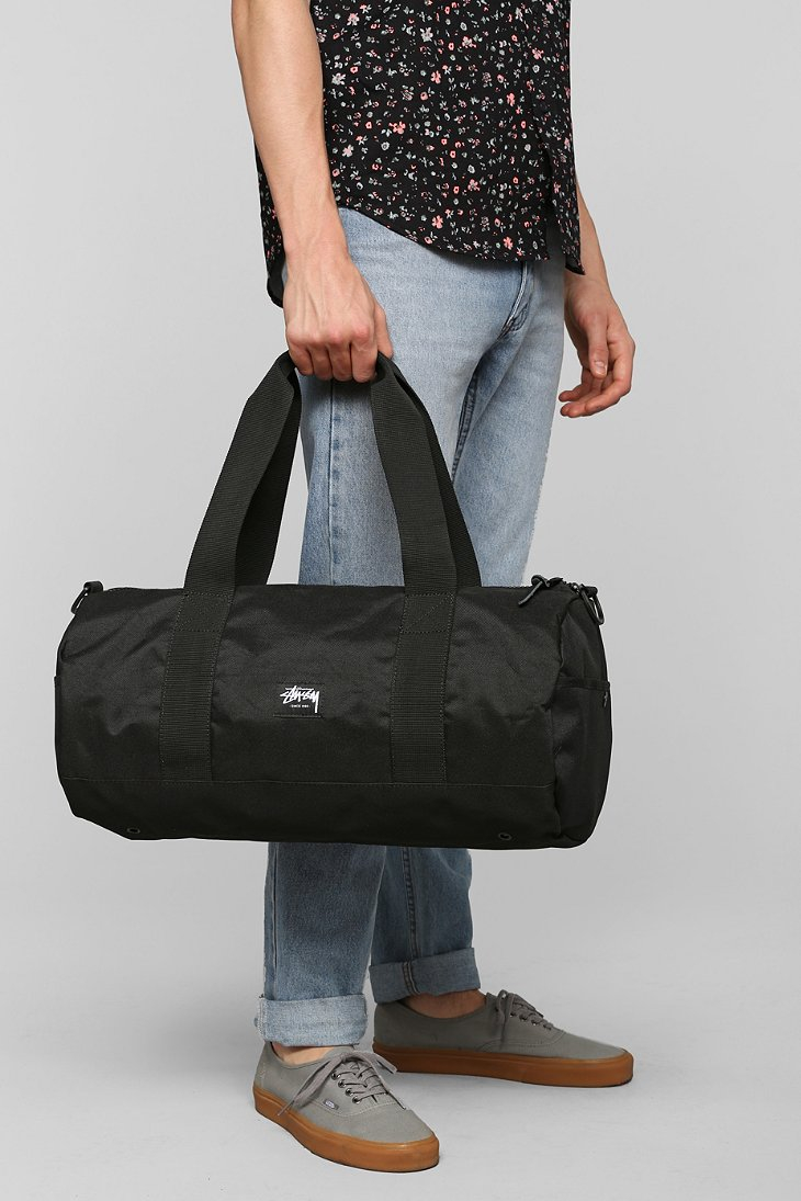 Stussy World Tour Small Duffle Bag In Black For Men Lyst