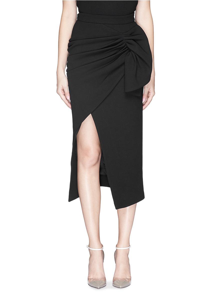 Maticevski 'tempest' Asymmetric Ruche Faux Wrap Pencil Skirt in ...