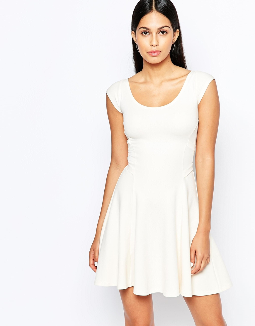 1d9fa0a83e Lyst - Quontum Skater Dress With Cross Back in Natural