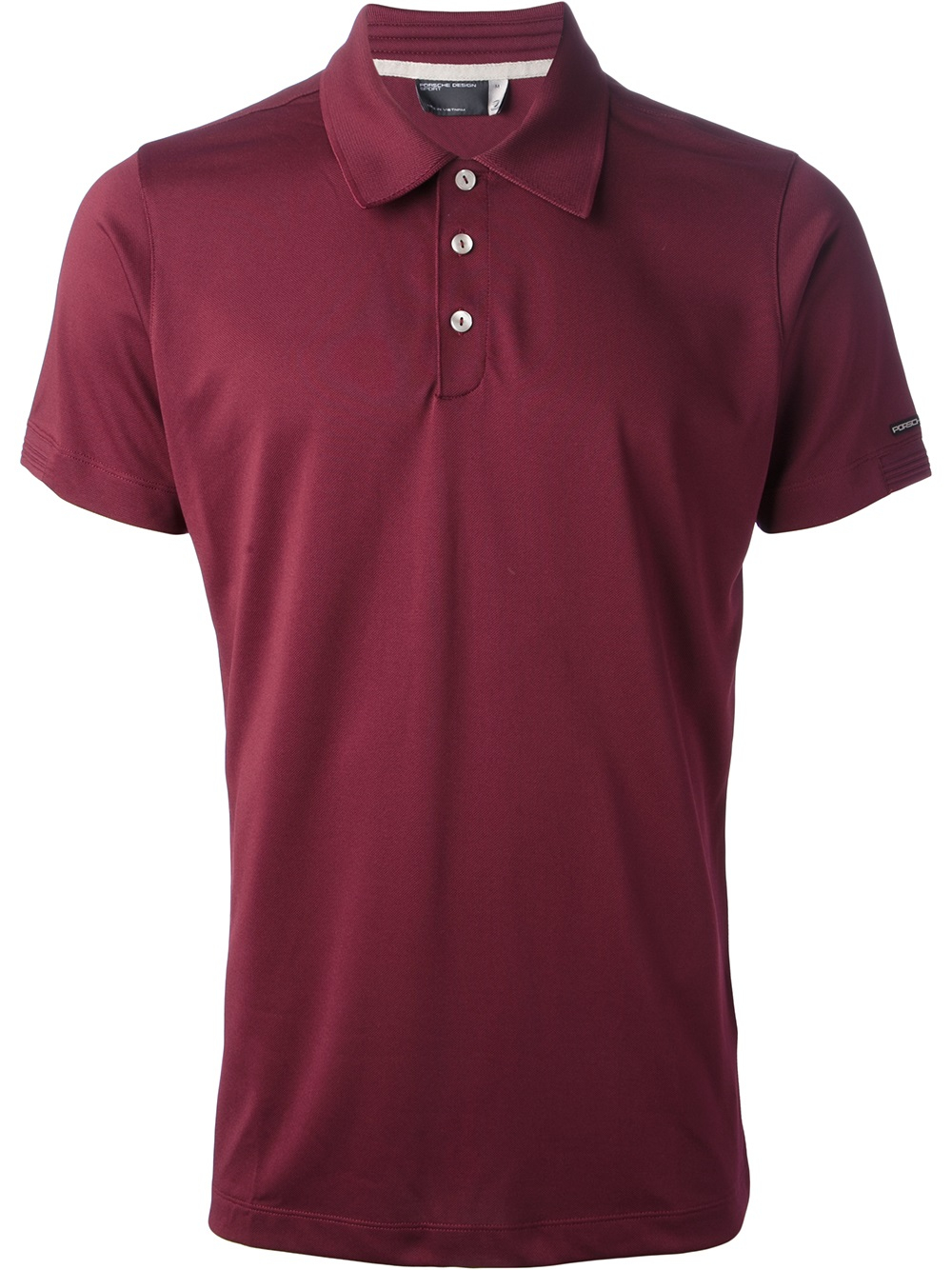 porsche design sport classic jersey polo shirt in red for. Black Bedroom Furniture Sets. Home Design Ideas