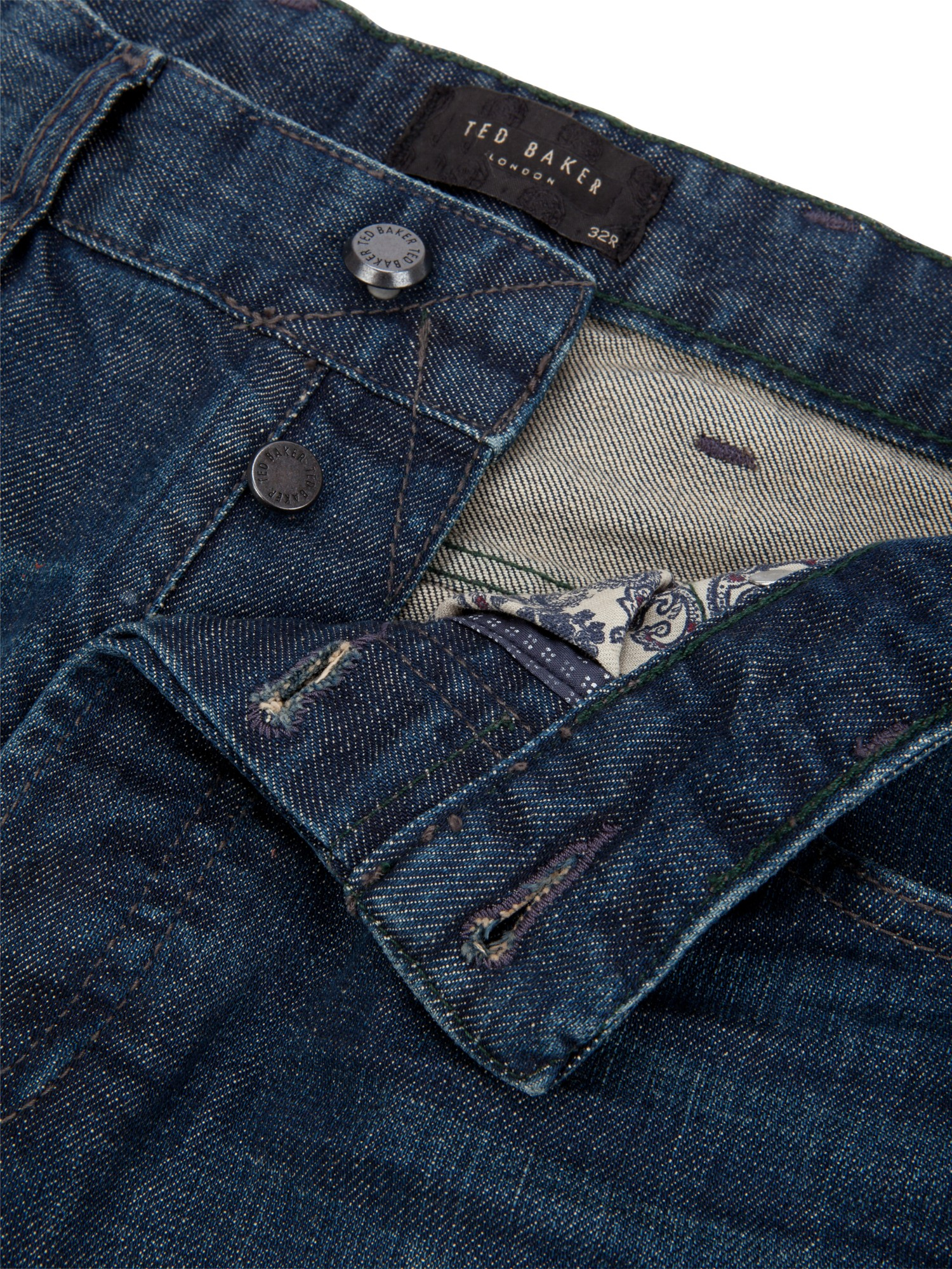 Ted Baker Oraxton Midwash Jeans in Blue for Men