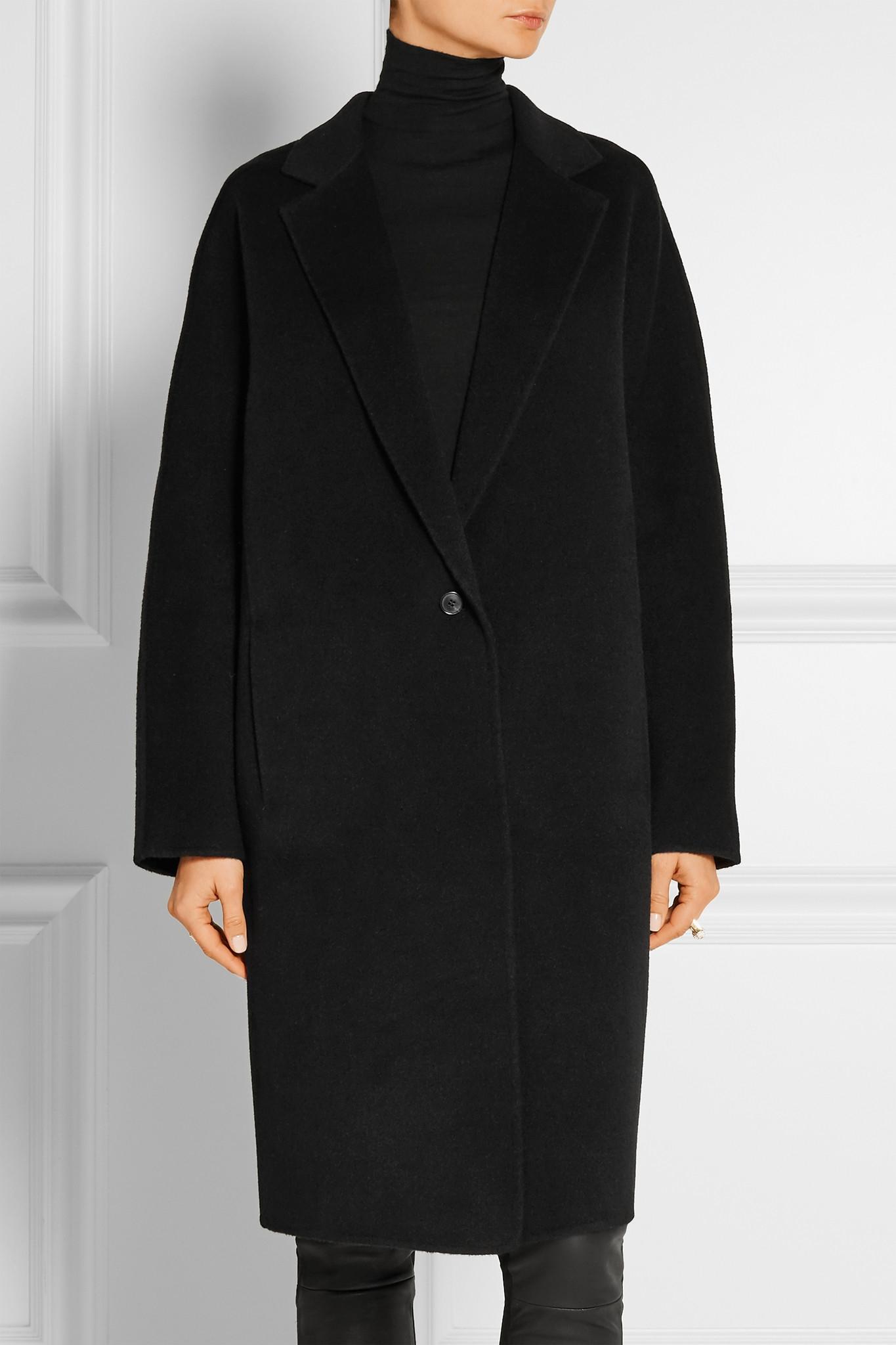 donna karan cashmere coat in black lyst. Black Bedroom Furniture Sets. Home Design Ideas