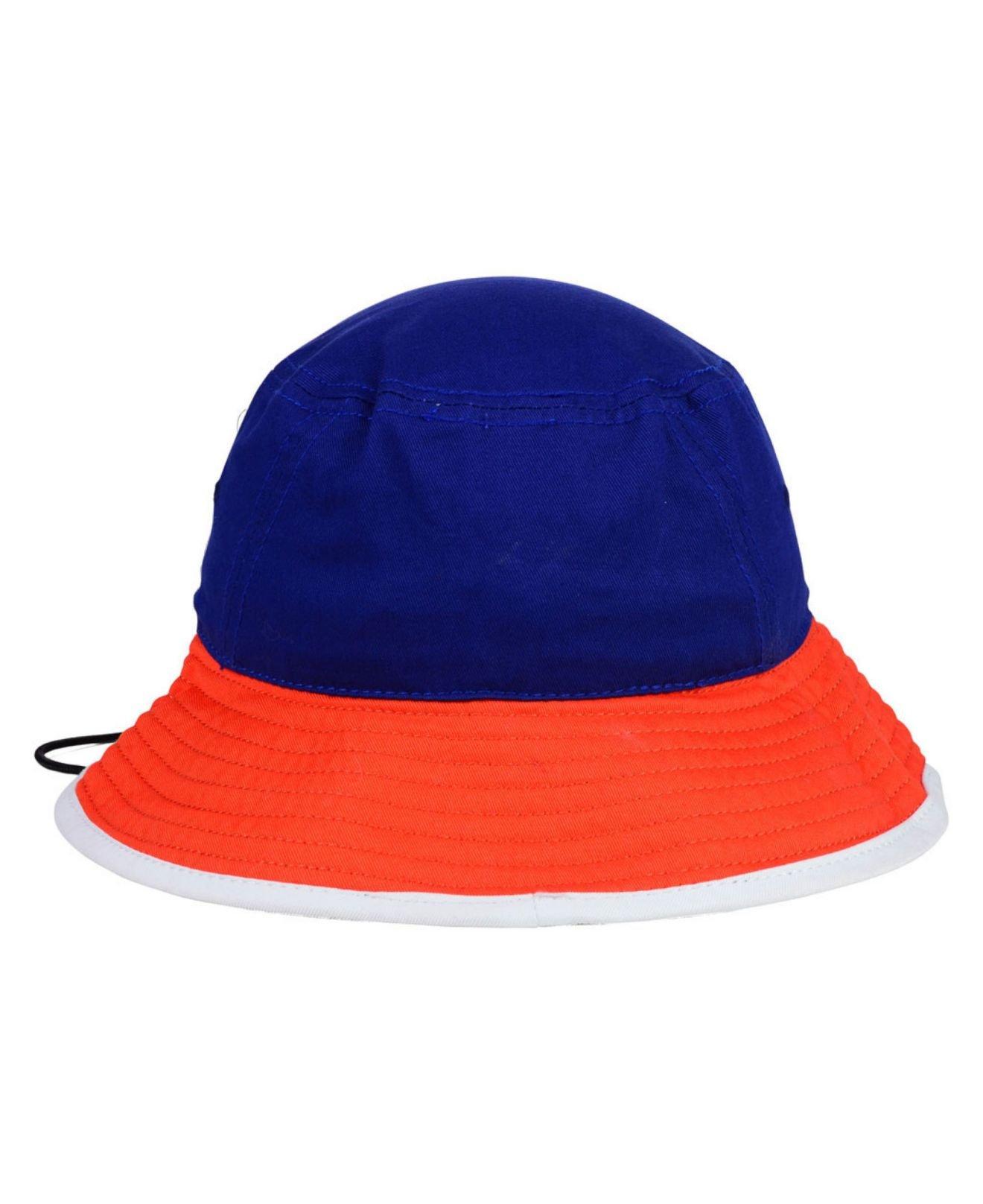 lyst ktz new york mets triple color tipped bucket hat in