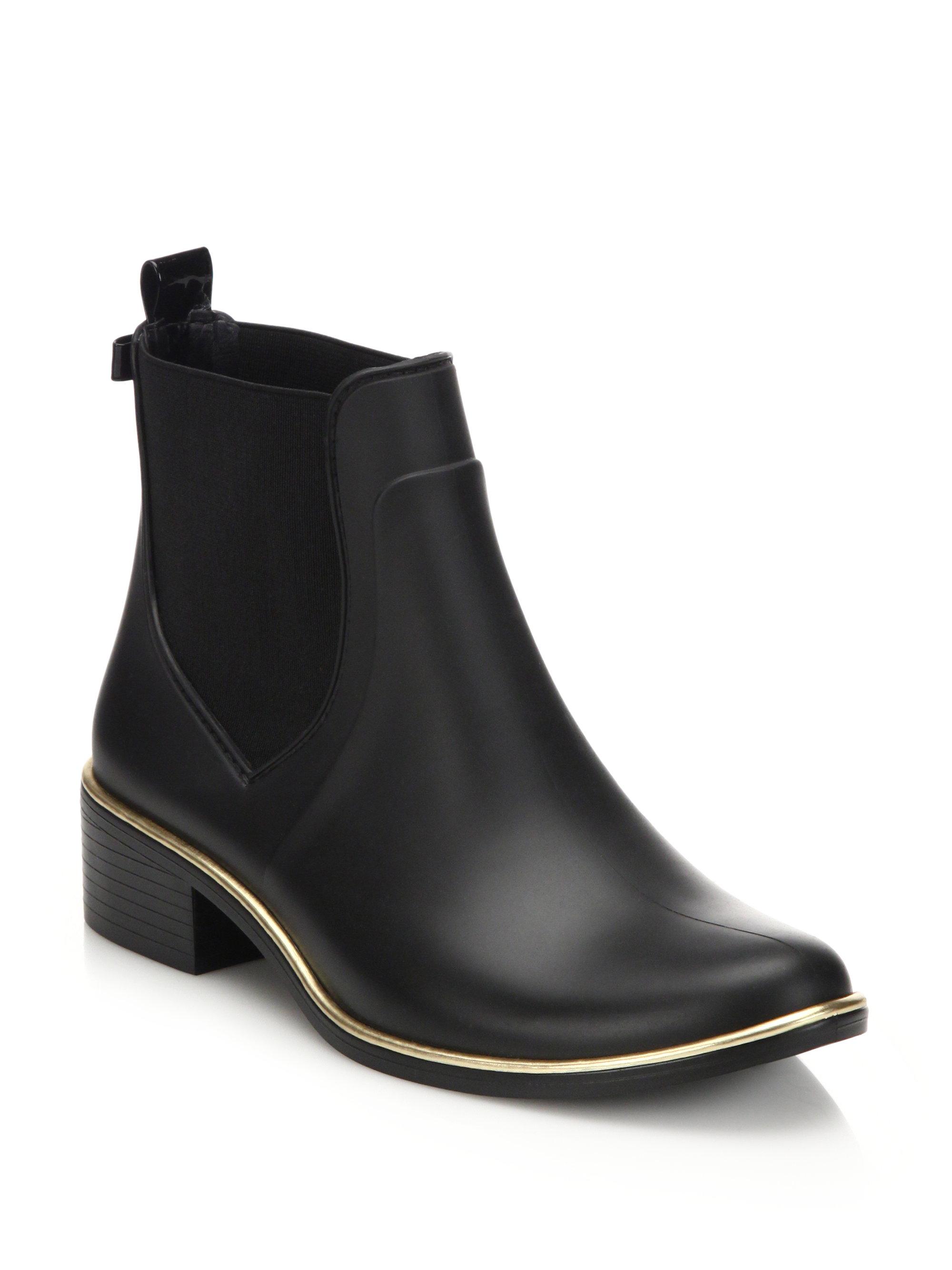 Kate Spade Sedgewick Rubber Chelsea Rainboots In Black - Lyst-6480