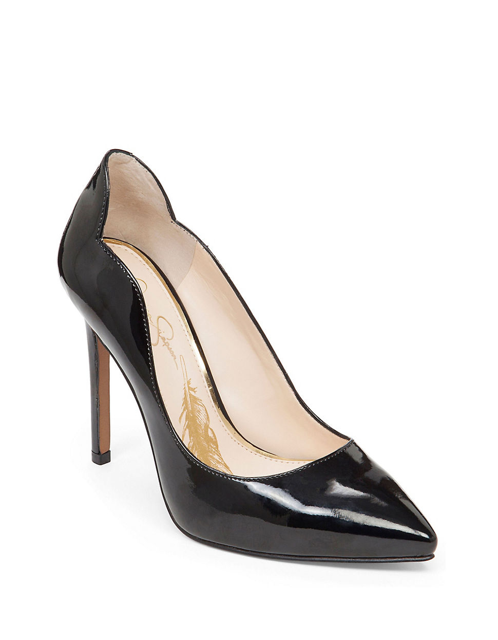 jessica simpson pixy patent pumps in black lyst. Black Bedroom Furniture Sets. Home Design Ideas