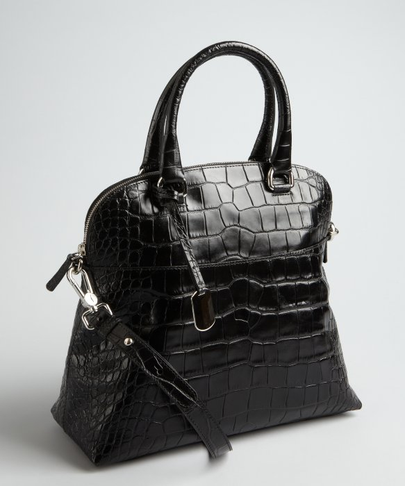 Lyst Furla Croc Embossed Leather Victoria M Dome Tote In