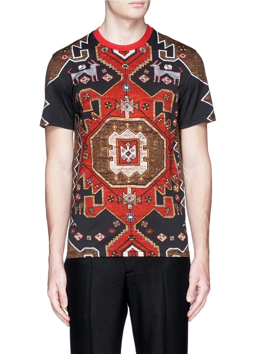 Givenchy persian carpet print t shirt for men lyst for Givenchy t shirt man